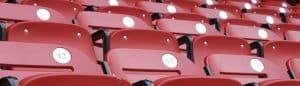 Stadion nummerierte Klappsitze